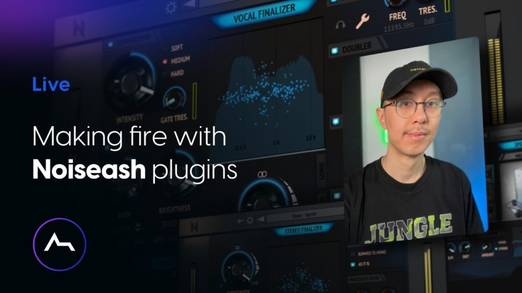 Live - Making fire with Noiseash plugins 2