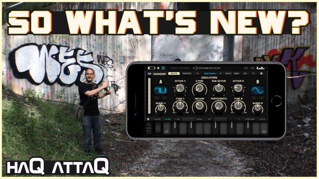 This Agonizer synth update is lit! | iPhone support - Neon Nightmare Presets | haQ attaQ 2