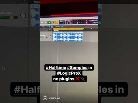 🗣 Quick Tip to Halftime any Sample in Logic - No Plugins ❌🔌 2