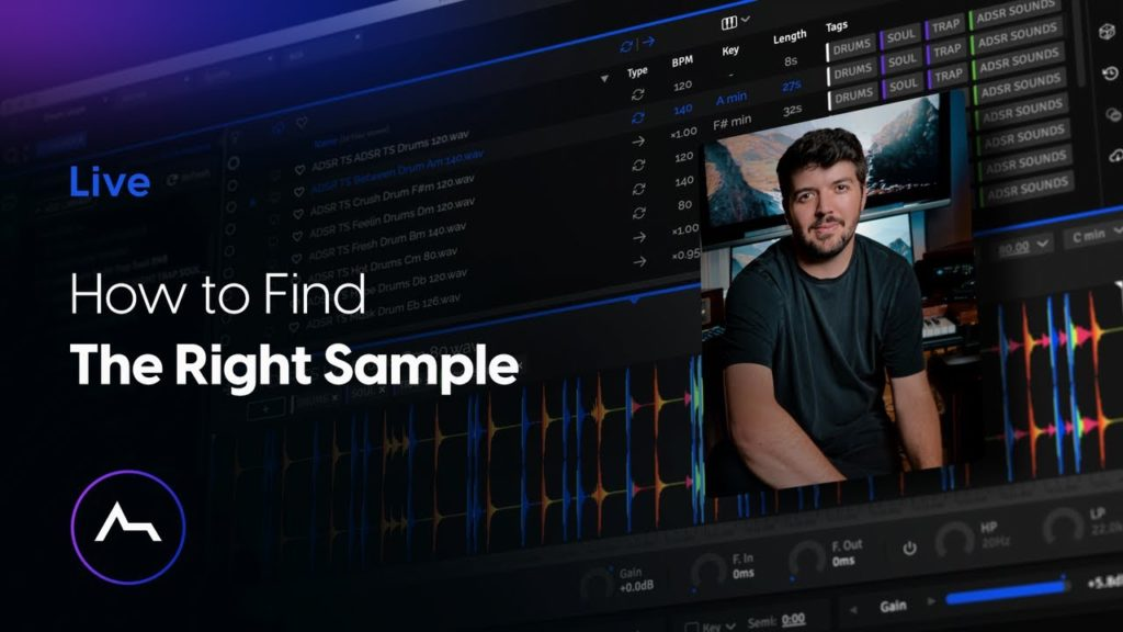 How to Find The Right Sample - Organize, Find & Audition Samples with ADSR Sample Manager 1.7.0 2