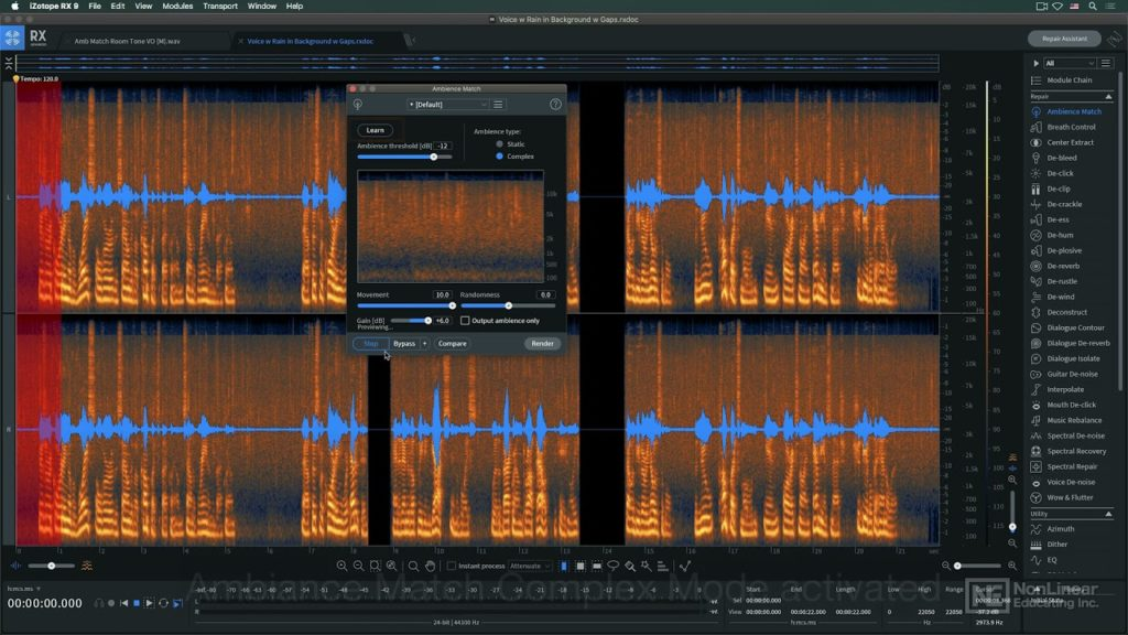 iZotope RX 9 100: What's New in iZotope RX 9 - Ambience Match 2